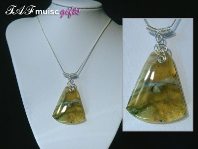 Today's featured music jewellery: Opal Necklaces