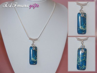 Today's featured music jewellery: Jasper Necklaces