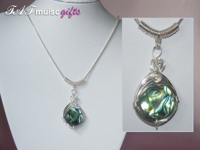 Today's featured music jewellery: Shell Necklaces
